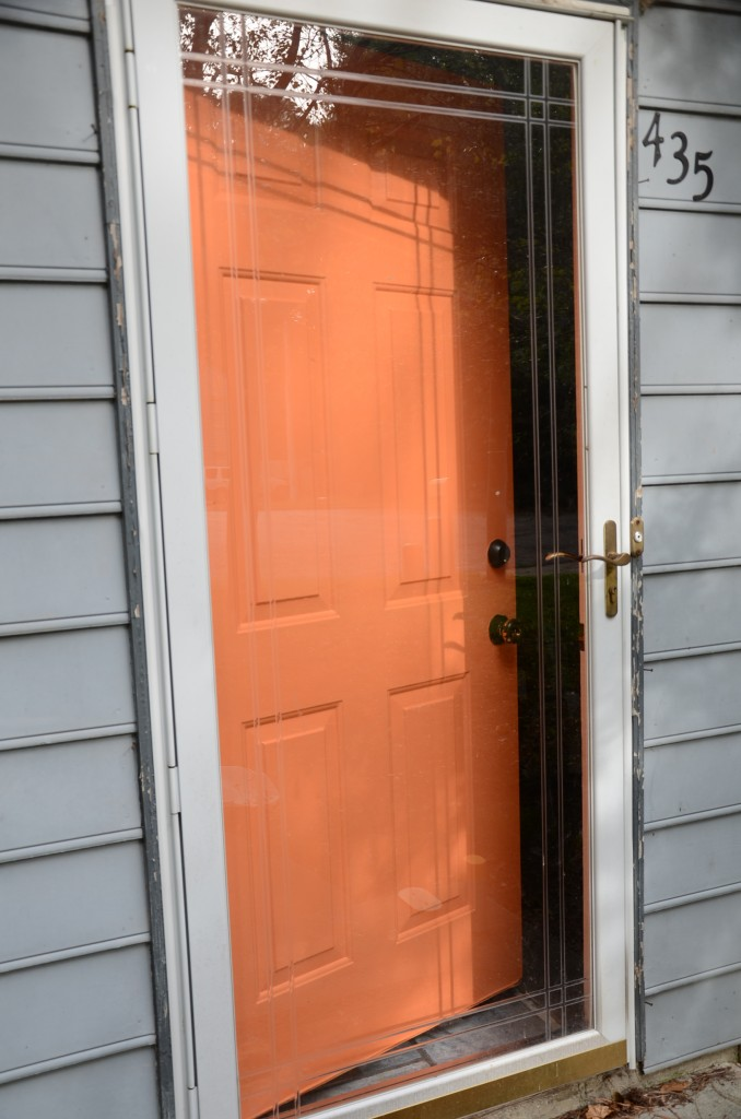 Energetic Orange My Front Door With Modern Masters